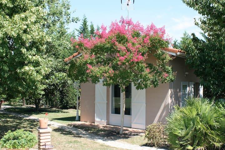 Studio équipé indépendant dans jardin