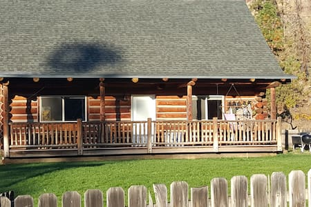Troy, OR log cabin; perfect for a weekend break.