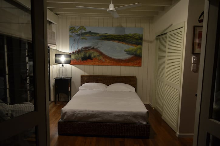Queen Size Bed, lower level.