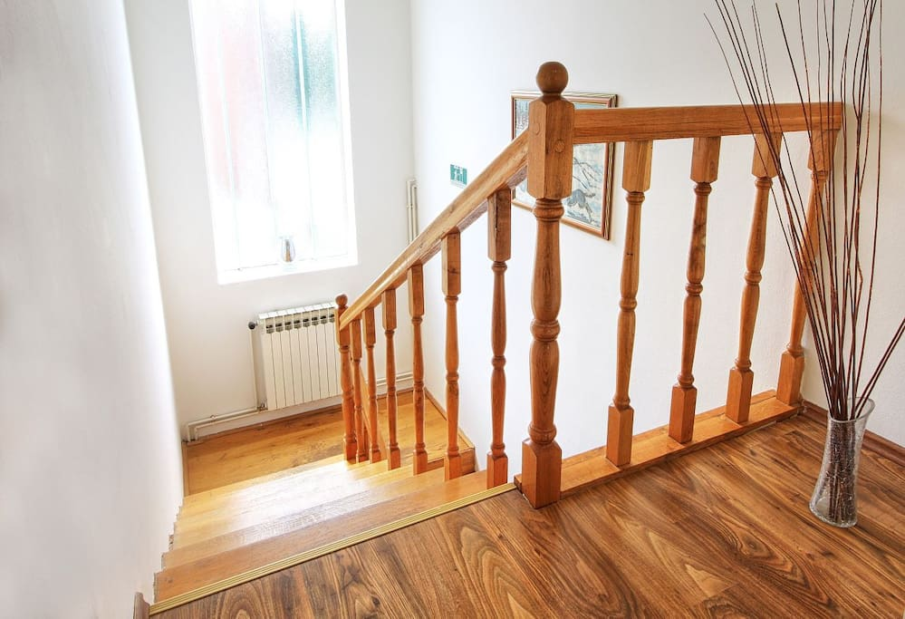 Stairs that leads to the apartment