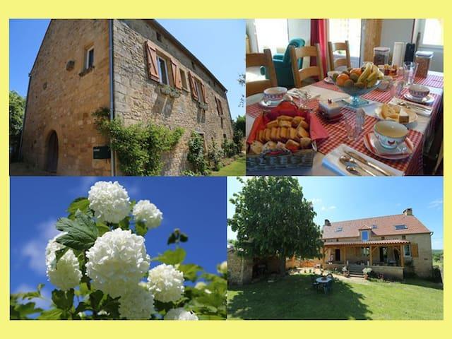 Chambres Dordogne proche de Sarlat - SAINT CIRQ MADELON - Penzion (B&B)