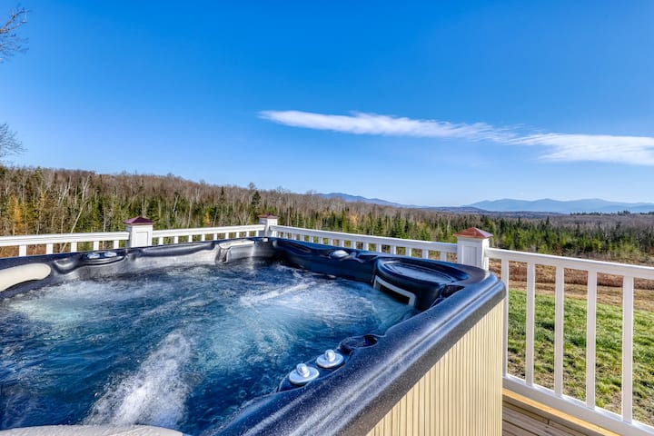 Dog-friendly secluded home w/ private hot tub, high-speed WiFi & wood fireplace!