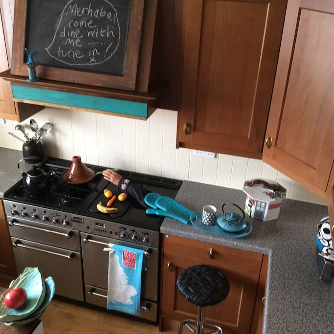 Kitchen/diner.The eagle eyed will spot that I'm quite handy  in here...
