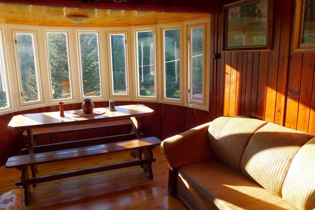 living room with panoramic windows