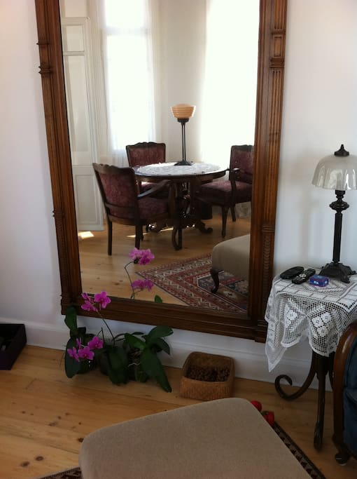 Dining room in the mirror