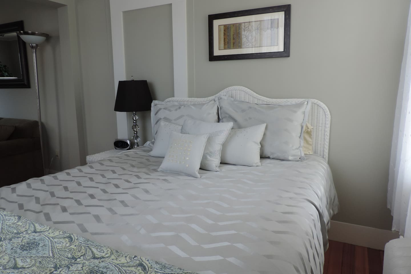 The Gorham has a queen size bed and is located on the front of the building!