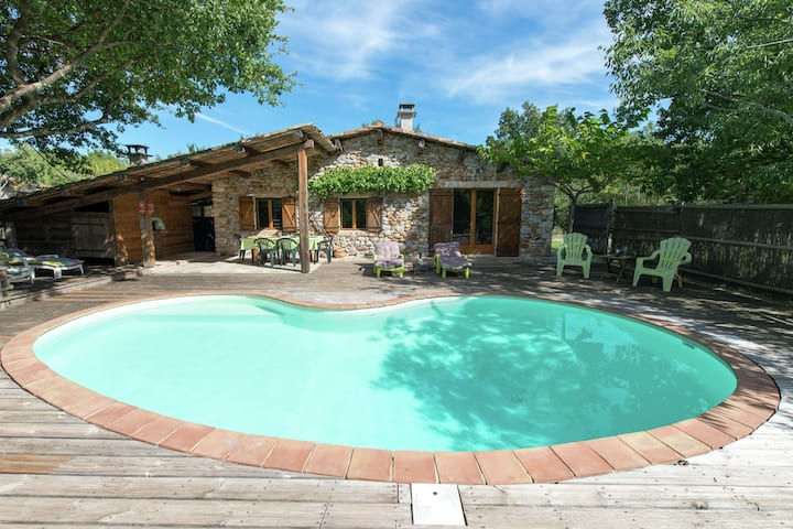 Lovely house in Ardeche, of ecological materials, with private swimming pool