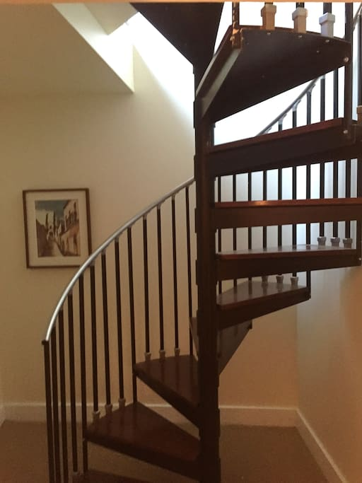 Charming spiral staircase