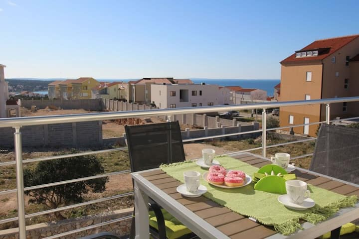 Captivating Apartment in Novalja with BBQ, Parking & AC