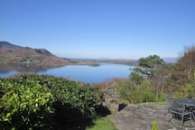 Views of Caragh Lake and surrounding mountains.