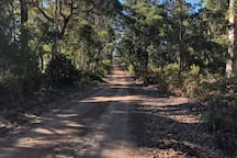 The road to the farm 360m turn right and is part of Munda Biddi Trail   https://www.mundabiddi.org.au/