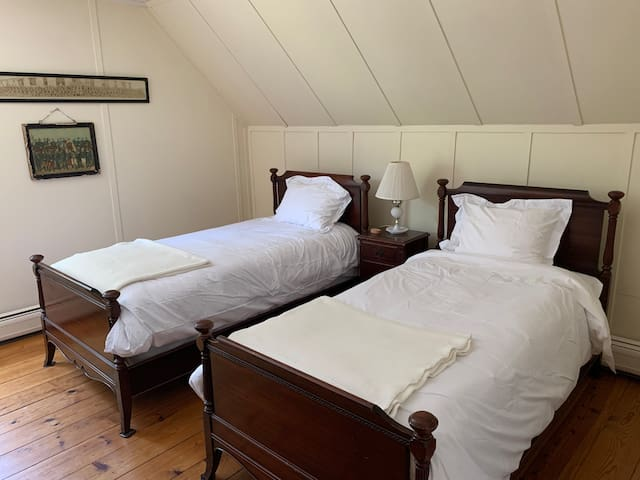 Farmhouse Bedroom with 2 twins.