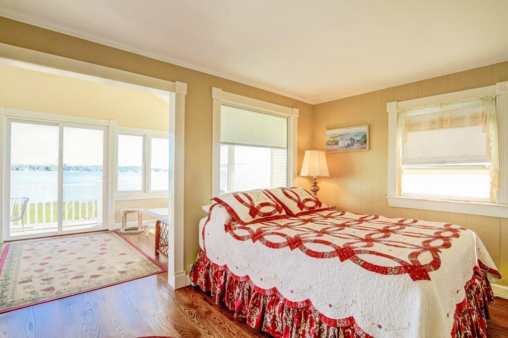 Master bedroom suite overlooks Long Island Sound