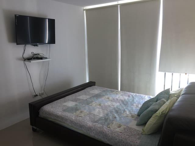 Dormitorio master, vista al TV