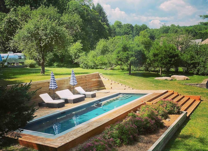 The Overbrook  House & Pool- Callicoon Center