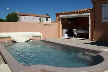 AGREABLE VILLA 6 PERSONNES, Ave Piscine Privative - Canet - Huis