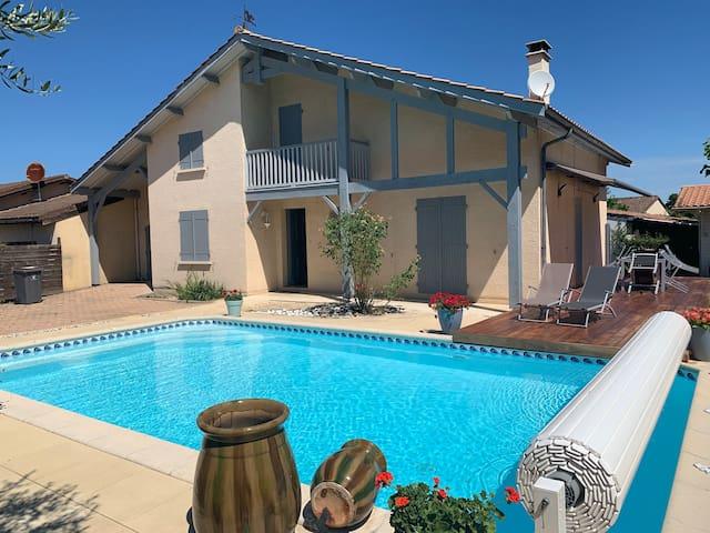 Maison Bassin d'Arcachon avec piscine chauffée