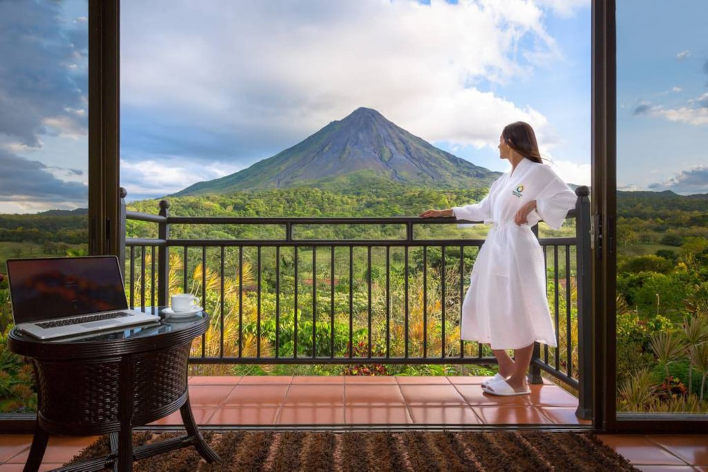 Enjoy the view from your room: Arenal Volcano is just in front of you!