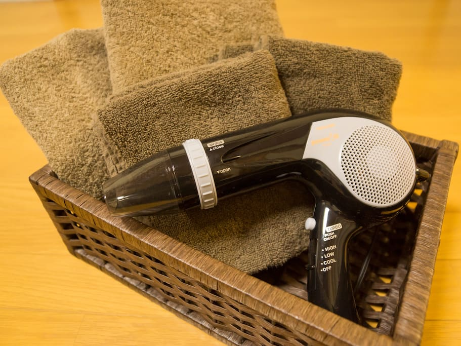 Towels & Hair dryer