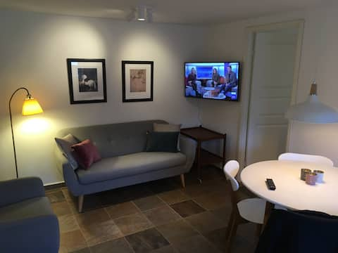 Basement apartment with own garden close to subway