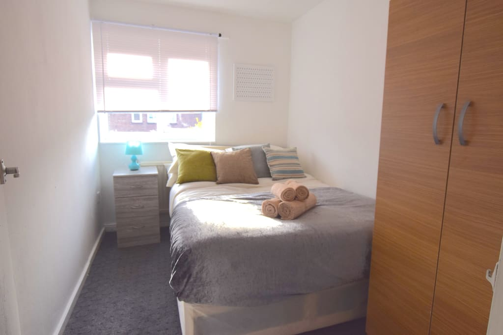 Double bedroom with plenty of natural light 1