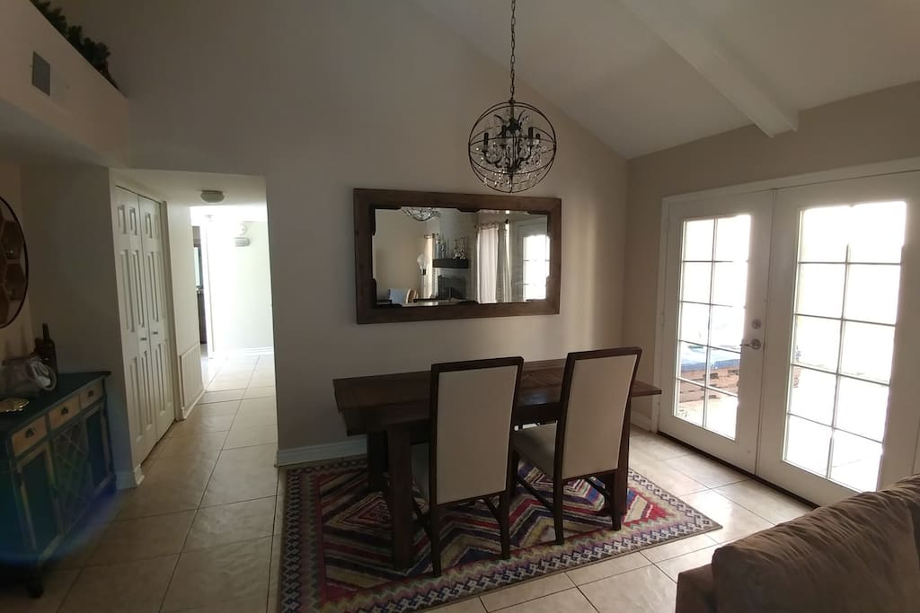 Living/Dining Room and Patio