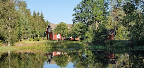 Idyll at the water's edge in Dalsland