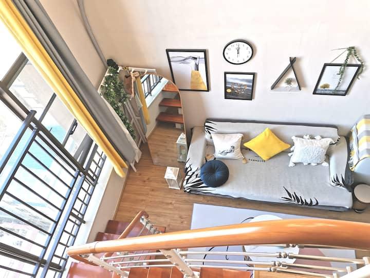 【希语•归心】【空调+电动床】loft公寓停车免费近官渡古镇、省博物馆、南部客运站