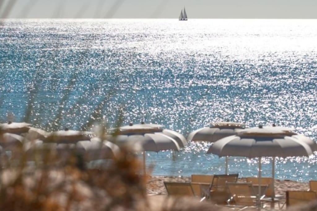spiaggia di Campana vicinissima a casa