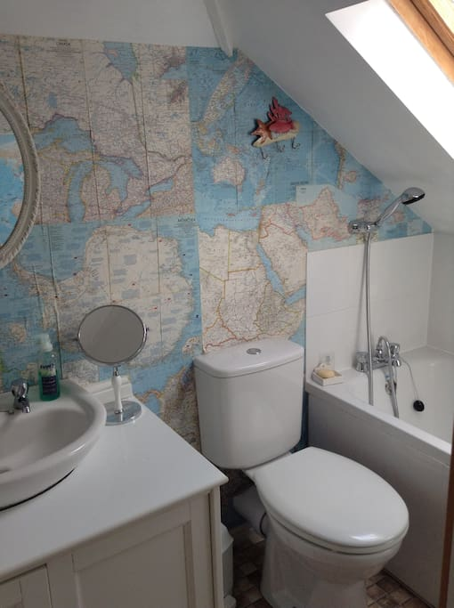 Ensuite with  possibly the world's tiniest bath