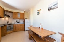 Fully equipped larger kitchen