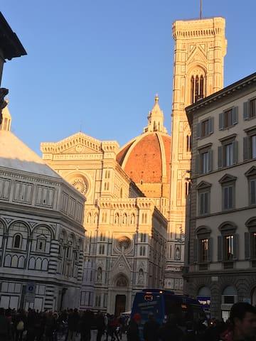 Duomo close to the sunset