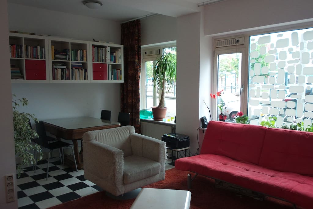 open living/kitchen