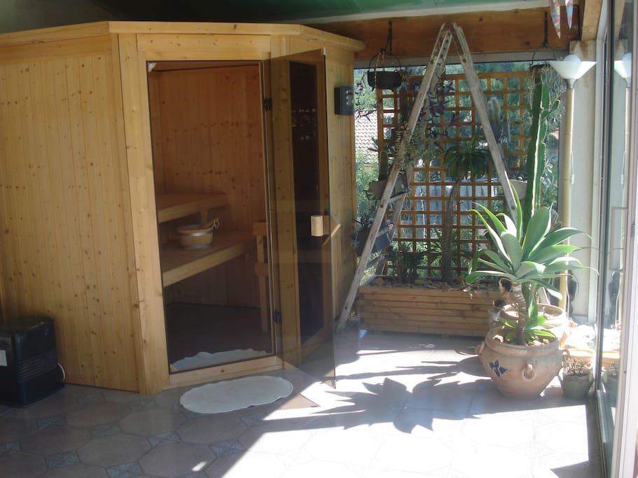 Sauna dans la véranda