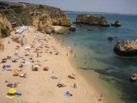 Praia da Dona Ana ( 5 min walk)