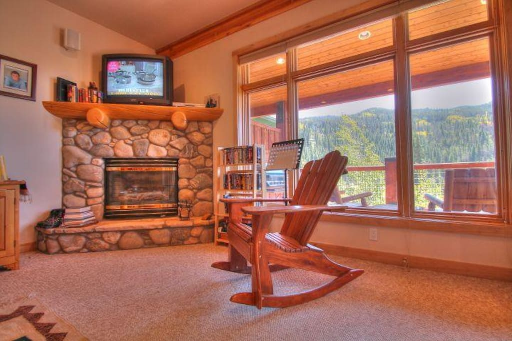 Living Room - Enjoy a roaring fire or pick from a selection of DVDs.