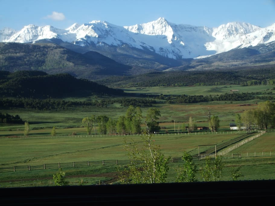 View of Sneffels Range from House