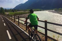 cycling path near Piave river