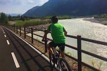 cycling path near Piave river