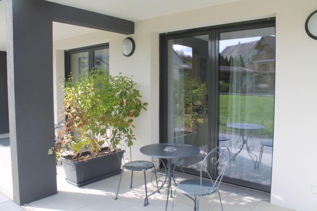 terrasse privative du studio Katel