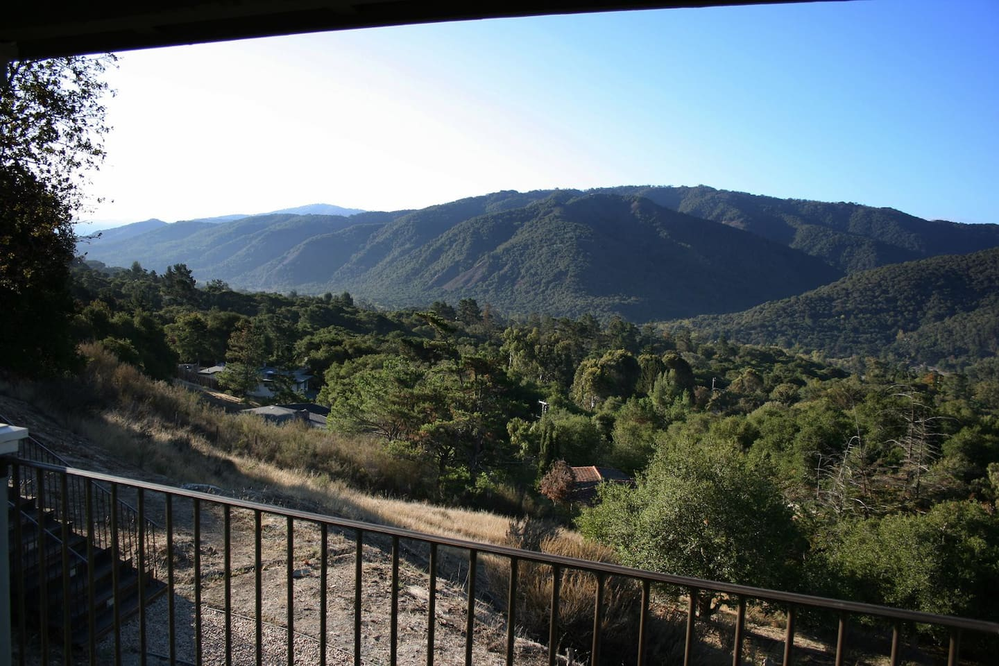 Enjoy the changing light with a panoramic view of Carmel Valley from the Deck