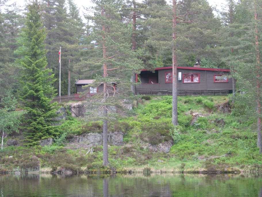 Cabin seen from the water
