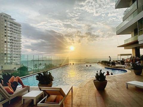 Lux apartment stunning sea views Grand Marina 60MB