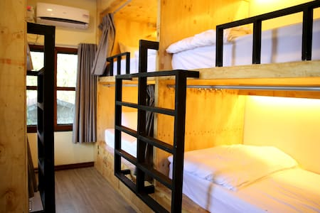 6 Capsule Private Room with individual privacy curtains, lockers, night light and international sockets
