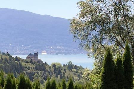 Chalet vue lac d'Annecy jusqu'à 12 personnes
