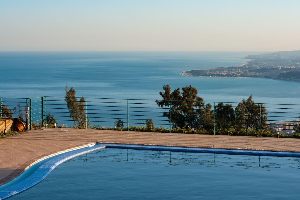 il panorama dall piscina