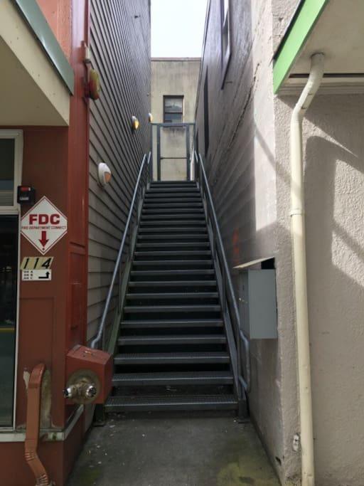 """Stairway to """"Juneau Art Loft""""!"""
