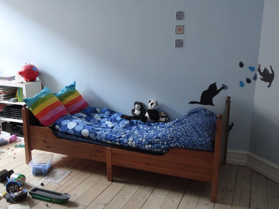 David's room - Lego in abundance.  Old photo. Now has double bed also (pull out).