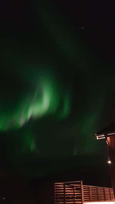 Nordlys / Northern Lights  ved hytta 13 oktober 2018