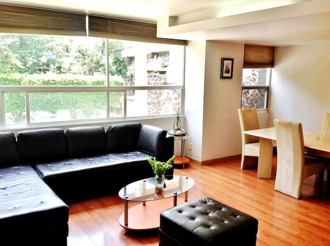 Safest & Spacious Apt in Coyoacán. - Cidade do México - Apartamento